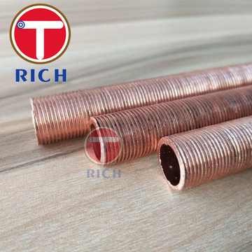 Copper Fin Tube Rendah dengan Sirip Integral