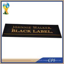 Custom Embossed Logo Soft PVC Bar Mat for Sale