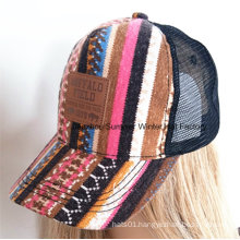 Applique Embroidery Embossed Buckle Cotton Twill Baseball Cap
