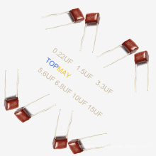 Topmay 2016 Tmcf03 Condensador de película de poliéster metalizado Mkt-Cl21 0.22UF + -10% 250V