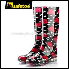 Fashion PVC transparent custom rain boots W-6040D