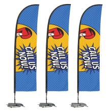 Hot sale custom printing wind teardrop feather advertising flying flag banner
