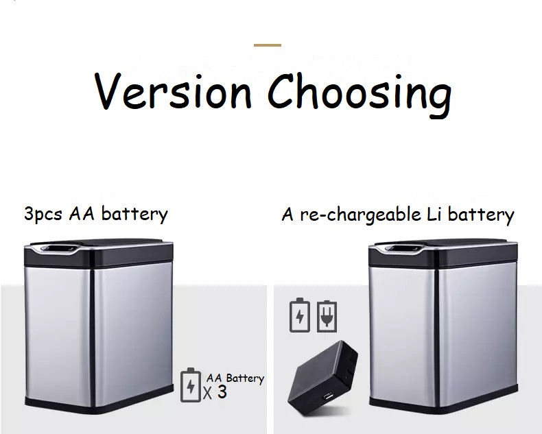 Re-chargeable Induction Sensor Dustbin