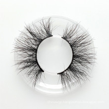25mm 3D mink eyelashes very long mink fur strip lashes custom private logo