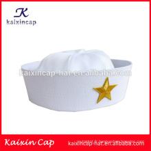 Vente en gros sur mesure vente chaude nouveau style blanc marin chapeau personnalisé vierge chapeaux chapeaux