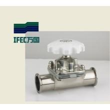 Válvula sanitaria del diafragma del acero inoxidable (IFEC-GMF100001)