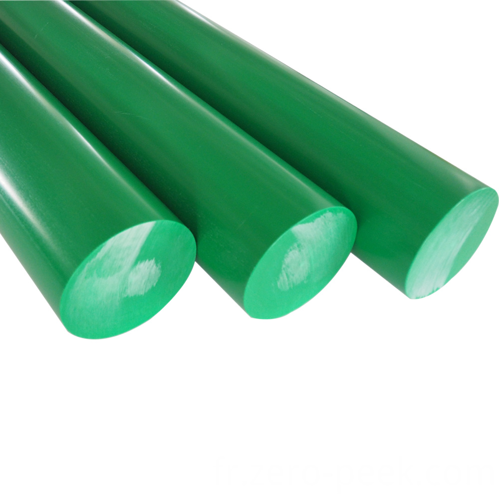 Green color delrin rod