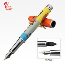 Роскошная металлическая ручка Логотип Индивидуальная металлическая фонтанная ручка на продажу