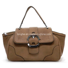 Fashion PU Leather Buckle Ladies Satchel Bag (ZXS0066)