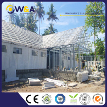 (WAS2505-95M-A)Light Weight ALC Wall Panel Steel Pre-fabricated House/Modular Villas