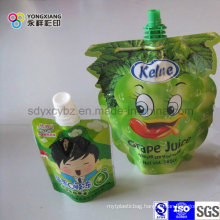 Stand up Juice Shaped Bag with Spout