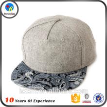 Personalizado 5 painel simples chapéus snapback atacado