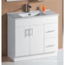 White Gloss MDF Banheiro Vaidade (UV6027-900W)
