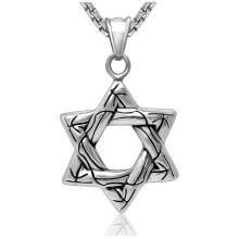 Hexagram De Mode Bijoux Collier Pendentif En Acier Inoxydable 316L