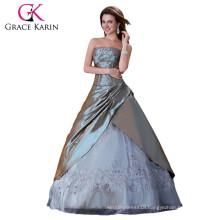 Sexy Grey Wedding Dress Bridal Gown Stock CL4522