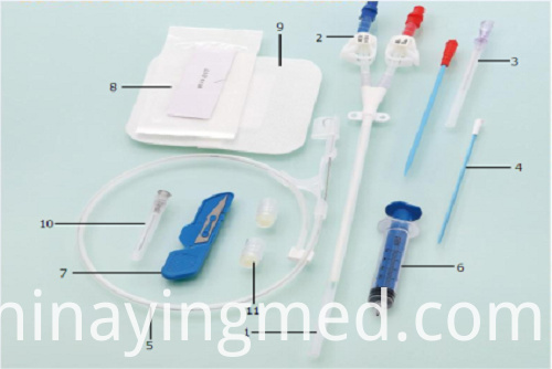 Sterile Hemodialysis Catheteer Kit