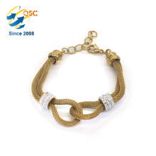Beau bracelet fait sur commande de charme de bijoux de filles de logo / femme de bracelet d'acier inoxydable