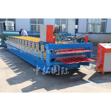 ZT-004-037+Double+Layer+Roofing+Panel+Roll+Forming+Machine