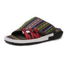 2018 Hommes mode rétro sandales été pantoufle coloré style national chaussures occasionnelles