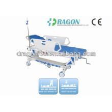 DW-TS002 civière de transfert luxueuse de manuel d'élévation et d'automne d'hôpital pour la salle d'opération
