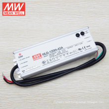 original MEANWELL constant current constant voltage type 36v to 40v led power supply waterproof IP65 aluminum case HLG-120H-42A