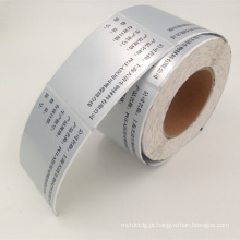 rolo de etiqueta autoadesivo do jato de tinta do polipropileno do preço de fábrica