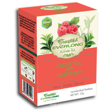 Raspberry Flavored Green Tea Pyramid Tea Bag Premium Blends Organic & EU Compliant (FTB1505)