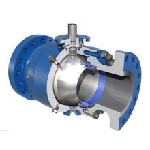 Robinet à tournant sphérique en acier inoxydable avec valve pneumatique