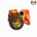 Custom race bronze award medals