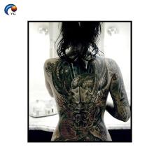 CMYK Full Back Tattoo Sticker decoración en el cuerpo