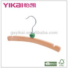 Детская нескользящая деревянная вешалка с дизайном крафт-шаржа