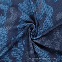 tejido de micro poliéster con estampado deportivo de seda de leche elástica