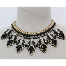 Мода костюм ювелирные изделия лист Кристалл коренастый колье ожерелье (JE0182)