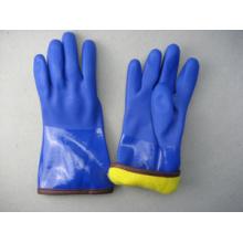 Voll Acryl-Futter Blau PVC Winter Arbeitshandschuh