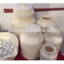 Desgaste de jarras de cerámica de zirconia resistente al desgaste con tapa