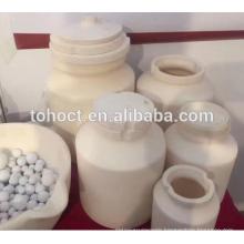 Wear resistant zirconia ceramic grinding jars with lid