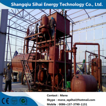 Engine oil refining to base oil distillation equipment
