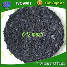 6 * 12 malha de ouro refino de damasco ativado de carbono