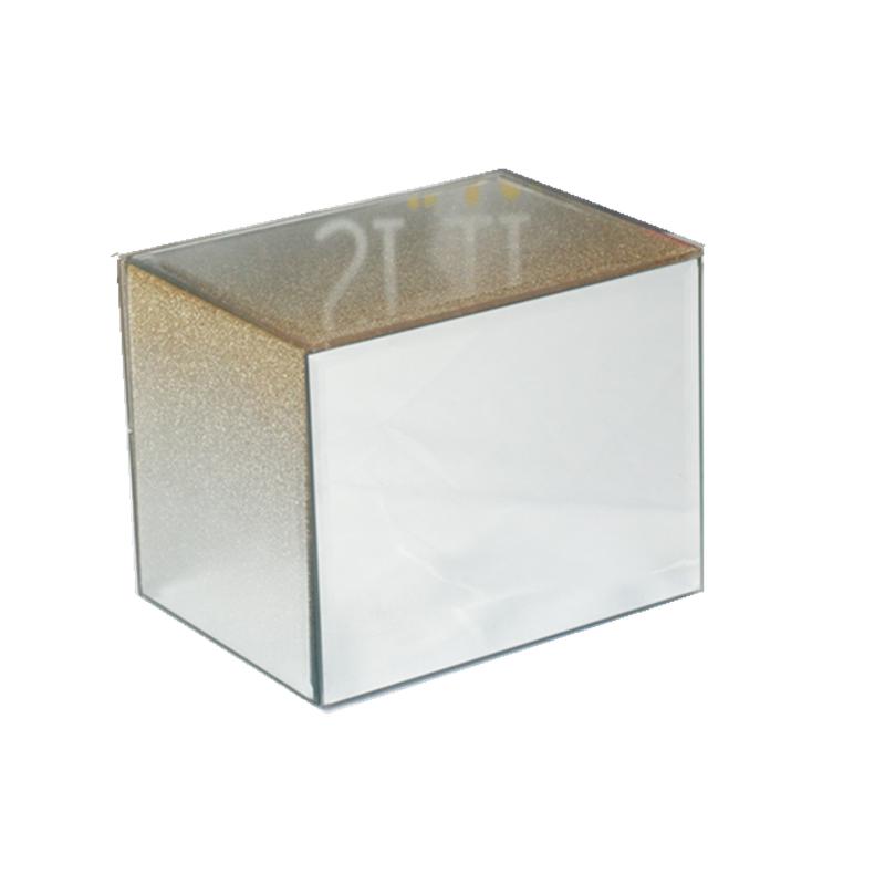 Gold Mirrored Jewelry Box