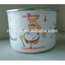 recipiente para esmalte con tapas pe / esmalte recipiente alto para almacenar con lindas calcomanías