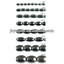 Природные высококачественные гематитовые рисовые шарики для изготовления ювелирных изделий