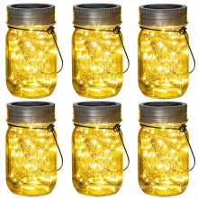 20LED Solar Hanging Mason Jar Lid Light