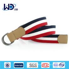 Double D rings webbing belt for sportswear