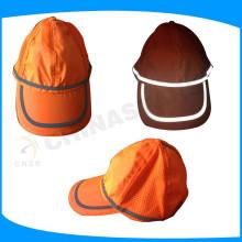 Fluoreszierende orangefarbene Sicherheits-Kappen, high vis hoodie für Arbeiter