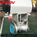 Пневмо-электрический Фланец соединить Y Тип 3 способ шариковый клапан 120 градусов 135 градусов