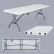 Venda por atacado quente dobrável 6-8 assentos mesa de camping de plástico para festa ao ar livre