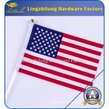 Bandera de Estados Unidos - Bandera de poliéster de algodón de 2.5 X 4 pies con manga de polo