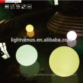 impermeável sem fio recarregável Chrismas plástico bola ornamento / led brilho piscina bola