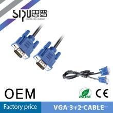 SIPUO alta calidad vga 3 + 2 super 15 metros vga cable tornillos