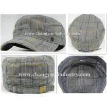 Rayas de moda venta por mayor barato gorra militar tapa plana